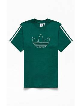 Adidas Green Floating Trefoil T Shirt by Pacsun