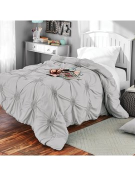 Solid Elastic Circle Ruched Microfiber Comforter, 1 Each By Mainstays by Mainstays