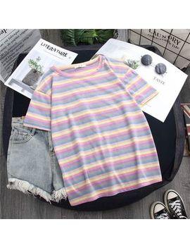 Aqui   Short Sleeve Striped T Shirt by Aqui