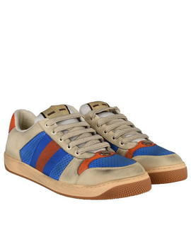 Screener Leather Trainers by Gucci