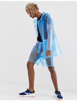 Asos Design Two Piece Hooded Transparent Coat by Asos Design