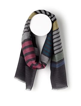 Dark Stripe Scarf by Paul Smith