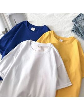 White City   Elbow Sleeve Plain T Shirt by White City