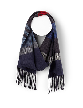 Herringbone Block Stripe Scarf by Le 31