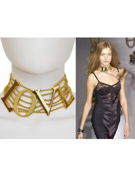 "Dolce & Gabbana S/S 2003 Vintage ""Love"" Choker Necklace Statement Jewelry Love And Sex Collection by Etsy"