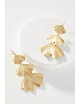 Gingko Leaf Drop Earrings by Anthropologie