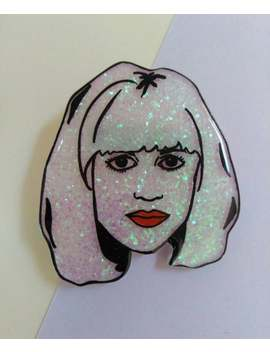 Courtney Love Glittery Illustrated Pin Badge. Hole. Grunge. by Etsy
