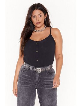 You Can Count Button Me Plus Cami Top by Nasty Gal