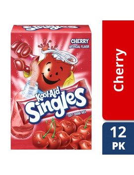 Kool Aid Sweetened Cherry Powdered Drink Mix, 12 Ct   0.55 Oz Packets by Kool Aid