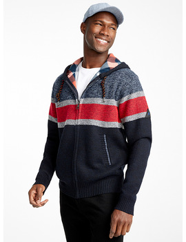 Fleece Lined Knit Cardigan by Point Zero
