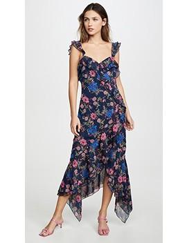 Issy Ruffle Strap Midi Dress by Wayf