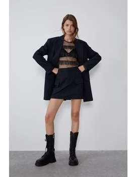Pinstripe Mini Skirt Skirtstrf by Zara