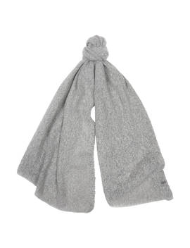 Barbour Plain Boucle Scarf, Light Grey by Barbour