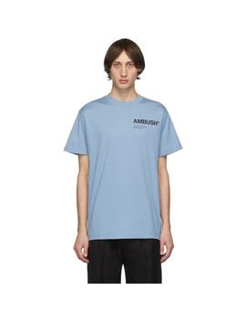 Ssense Exclusive Blue Logo T Shirt by Ambush