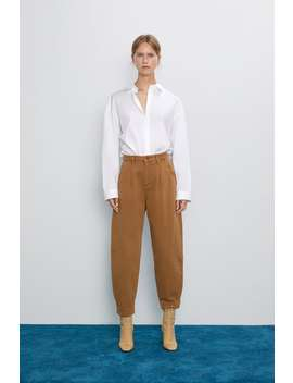 Jeans Z1975 Slouchy Con Pince Slouchy Jeans Donna by Zara