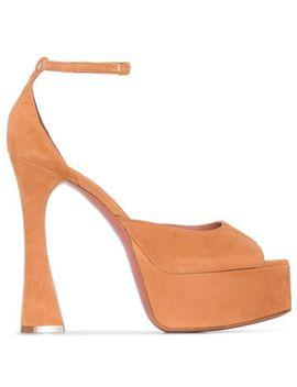 X Browns Bianca 140mm Platform Sandals by Amina Muaddi