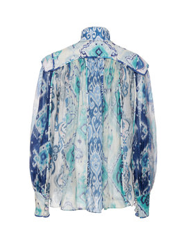 Glassy Long Sleeve Blouse by Zimmermann