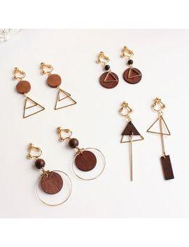 Joodii   Geometric Wooden Earring (Various Designs) by Joodii
