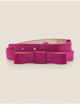 Bow Belt   Vibrant Plum by Boden