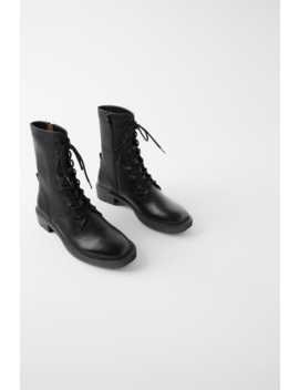 Flat Leather Ankle Boots  Shoeswoman Shoes &Amp; Bags by Zara