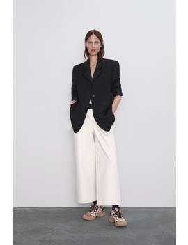 Pantaloni Ampi Cintura Culotte Pantaloni Donna by Zara