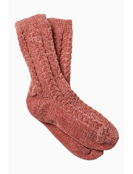 Fat Face Pink Cable Chenille Socks by Next