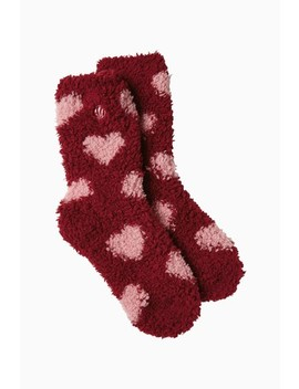 Fat Face Pink Fluffy Stripe Boot Socks by Next