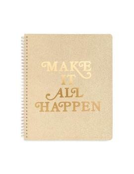 Rough Draft Large Notebook   Make It Happen by Ban.Do