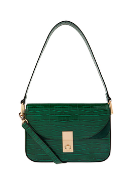 Rebecca Croc Shoulder Bag by Accessorize