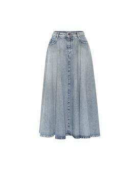 Denim Midi Skirt by Miu Miu