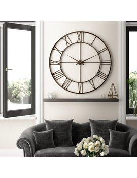 Oversized Mauricie  120cm Wall Clock by Fleur De Lis Living