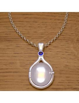 Solid 925 Sterling Silver Necklace With Chain H2 O Just Add Water Mermaids Locket With Blue Cubic Zirconia Cz Stone Rikki Emma Cleo by Etsy