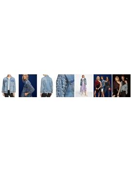 Embellished Denim Jacket   100 Percents Exclusive by Sunset & Spring
