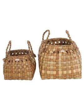 Parila Round 2 Piece Sea Grass Basket Set by Yoshiko Home