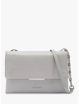 Ted Baker Bar Detail Leather Cross Body Bag, Light Grey by Ted Baker