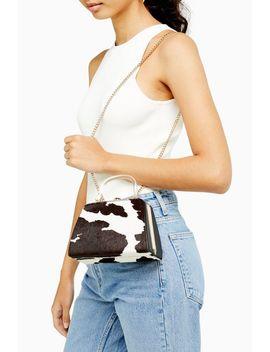 Greed Cow Print Grab Mini Bag by Topshop