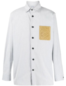 Camisa A Rayas Con Parche Del Logo by Loewe