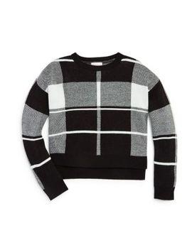 Girls' Plaid Sweater   Big Kid by Design History