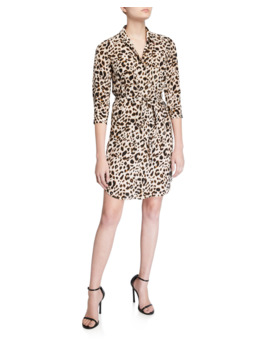 Stella Printed Silk Shirt Dress by L'agence