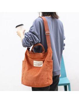 Quien   Corduroy Tote Bag by Quien