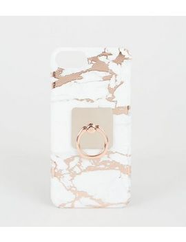 Rose Gold Marble Effect Case For I Phone 6/6s/7/8 by New Look