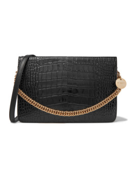 Gv Cross Croc Effect And Smooth Leather Shoulder Bag by Givenchy