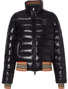Detachable Sleeve Icon Stripe Detail Puffer Jacket by Burberry