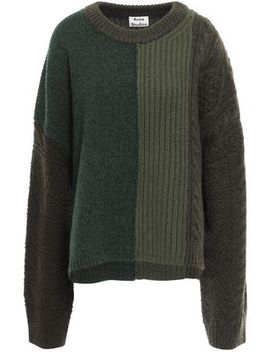 Color Block Wool Sweater by Acne Studios