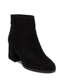 Harper Suede Block Heel Bootie by Eileen Fisher