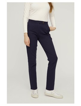 Cynthia Trousers In Navy by People Tree