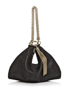 Callie Shimmer Leather Convertible Clutch by Jimmy Choo