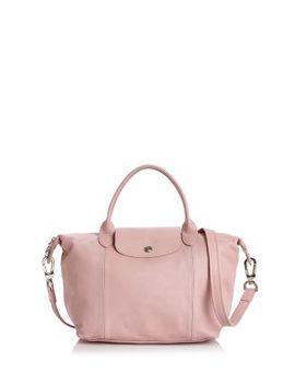 Le Pliage Cuir Small Leather Handbag by Longchamp