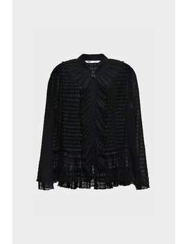 Ruffled Textured Weave Blouse  Look 01 Chapter 1 Scenes by Zara