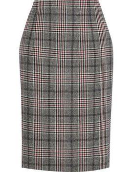 Kaira Checked Jacquard Skirt by Iris & Ink